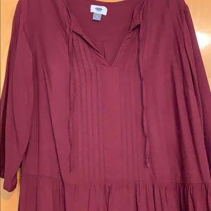 Old Navy Dresses - Burgundy drop waist dress